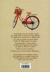 Verso de La bicyclette rouge -2- Les Roses Trémières