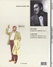 Verso de Blake et Mortimer (Les Aventures de) -1- Le Secret de l'Espadon T1