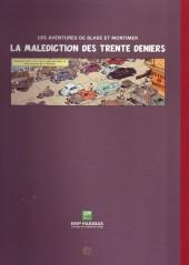 Verso de Blake et Mortimer (Publicitaire) -19BNP- La Malédiction des trente deniers - Tome 1