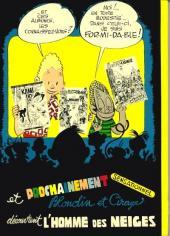 Verso de Blondin et Cirage -8'- Silence on tourne!