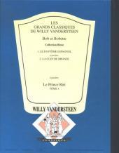 Verso de Bob et Bobette (Collection classique bleue) -1- Le fantôme espagnol
