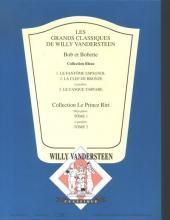 Verso de Bob et Bobette (Collection classique bleue) -2- La clef de bronze