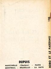 Verso de Bobo -MR1340- Bobo et le pardimu
