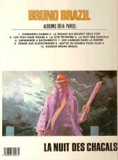 Verso de Bruno Brazil -5b1985- La nuit des chacals