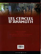 Verso de Les cercles d'Akamoth -4- L'archange noir