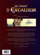 Verso de Le chant d'Excalibur -1- Le Réveil de Merlin
