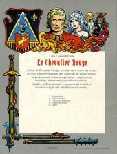 Verso de Le chevalier Rouge -4- La dame des portes