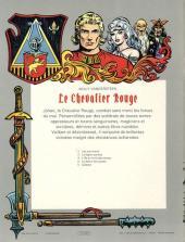 Verso de Le chevalier Rouge -5- Galador