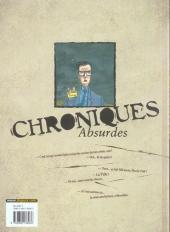 Verso de Chroniques absurdes -2- Un monde de brutes