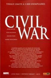 Verso de Civil War - Tome 3VC