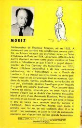 Verso de Cocktail avec un trait de Morez