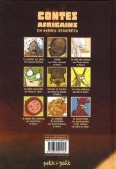 Verso de Contes du monde en bandes dessinées - Contes africains en bandes dessinées