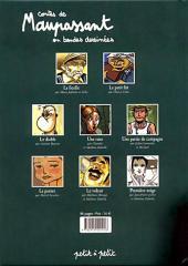 Verso de Poèmes en bandes dessinées - Contes de Maupassant en bandes dessinées