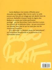 Verso de Corto Maltese -8b2001- La maison dorée de Samarkand
