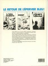 Verso de L'Épervier bleu (Dupuis) -INT- Territoires interdits