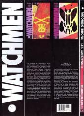 Verso de Watchmen (Les Gardiens) -3- Rorschach