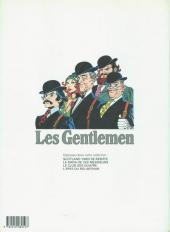 Verso de Les gentlemen -5- Le triangle d'or