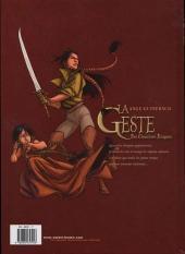 Verso de La geste des Chevaliers Dragons -3- Le pays de non-vie