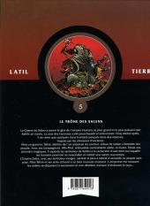Verso de Les guerriers -5- Le trône des Salens