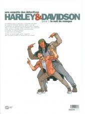 Verso de Harley & Davidson (Une enquête des détectives) -1- La nuit du masque