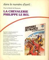 Verso de Histoire de France en bandes dessinées -6- Les Louis de France, Bouvines
