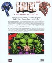 Verso de Hulk (Autres) - L'encyclopédie du Titan Vert