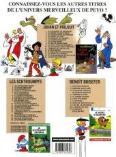 Verso de Johan et Pirlouit -15Ind- Les Troubadours de Roc-à-Pic