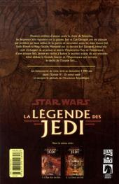 Verso de Star Wars - La légende des Jedi -2- La chute des Sith