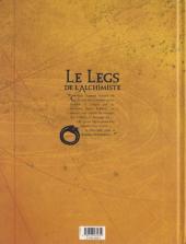 Verso de Le legs de l'alchimiste -1- Joachim Overbeck