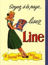 Verso de Line (Gaudelette) -1- Line et les timbres volants
