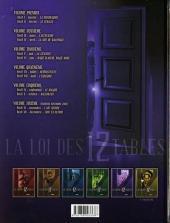 Verso de La loi des 12 tables -5- Volume cinquième