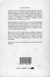 Verso de Lawrence d'Arabie (Bory/Loisel) - Lawrence d'Arabie