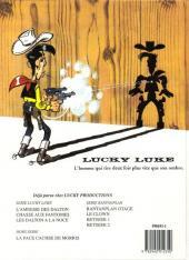Verso de Lucky Luke -62- Les Dalton à la noce