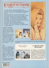 Verso de La marquise des Lumières -2- Le destin de Zoé