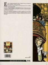 Verso de Mémoires d'un aventurier -1- Pierre de Saint-Fiacre