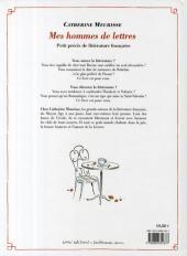 Verso de Mes hommes de lettres