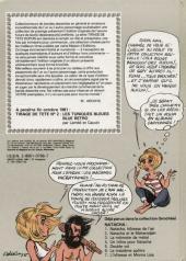 Verso de Natacha -8TT- Instantanés pour Caltech