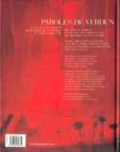 Verso de Paroles de Verdun - Paroles de verdun, 21 février 1916 - 18 décembre 1916