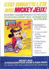 Verso de Picsou Magazine -186- Picsou Magazine N°186