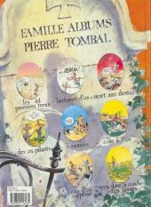 Verso de Pierre Tombal -8- Trou dans la couche d'os jaunes