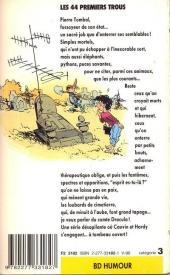 Verso de Pierre Tombal -1Poch- Les 44 premiers trous