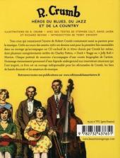 Verso de (AUT) Crumb -5- R. Crumb - Héros du blues, du jazz et de la country