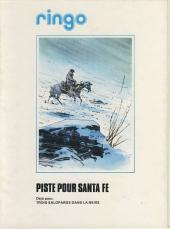 Verso de Ringo (Vance) -1a- Piste pour Santa Fe
