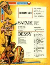 Verso de Safari (Vandersteen) -1- Mission dangereuse