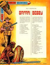 Verso de Safari (Vandersteen) -9- La danse du serpent