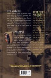 Verso de Sandman -1- Préludes & Nocturnes