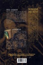 Verso de Sandman -3- Domaine du rêve