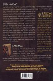 Verso de Sandman -4- La saison des brumes