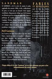 Verso de Sandman -6- Fables et réfléxions
