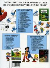Verso de Les schtroumpfs -20- La menace Schtroumpf